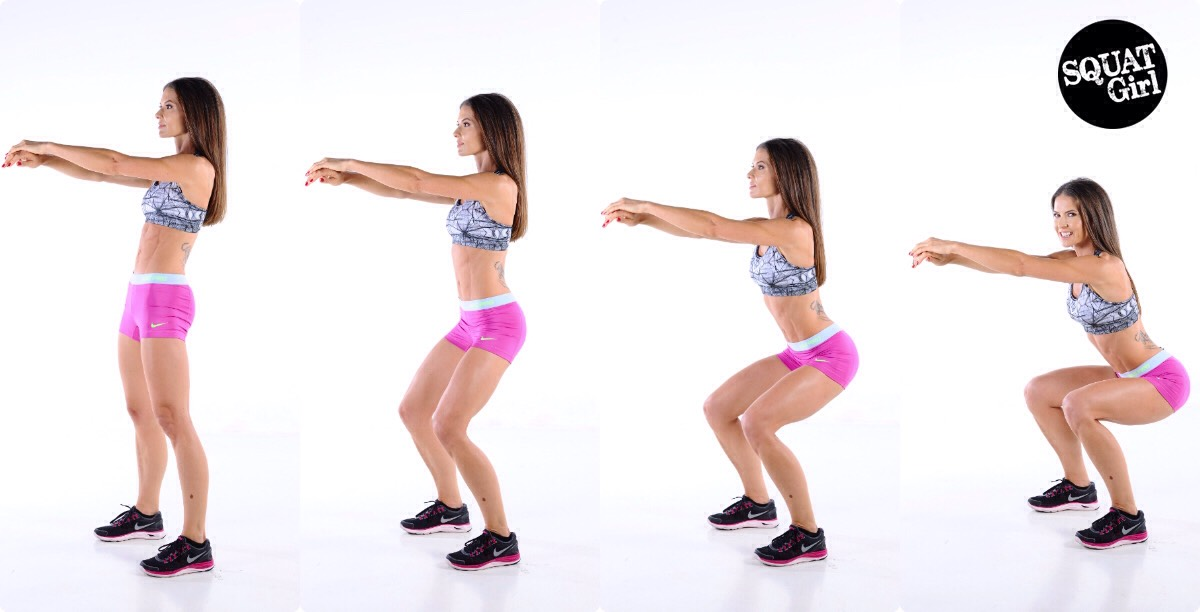 Squat! Squats are one of the highest calorie burning exercises out there! Squats are also a full body workout and amazing for toning muscle!