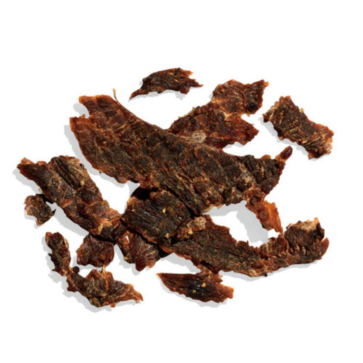 1 1/4 OZ TURKEY JERKY When you must have meat, chew on this low-cal, low-fat power snack.