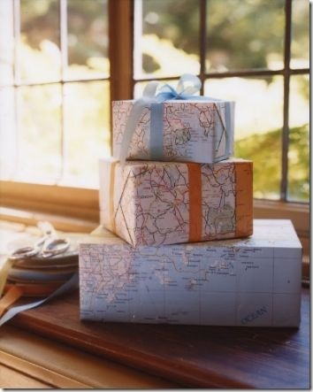 Use your maps as gift wrap.