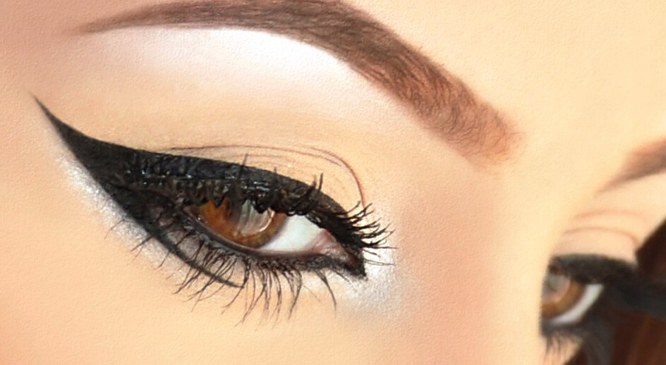 Short on eyeliner? You can create a quick eyeliner by mixing eyeshadow and eye drops. Just use an eyeliner brush to swipe along your upper and lower lid. Enjoy!