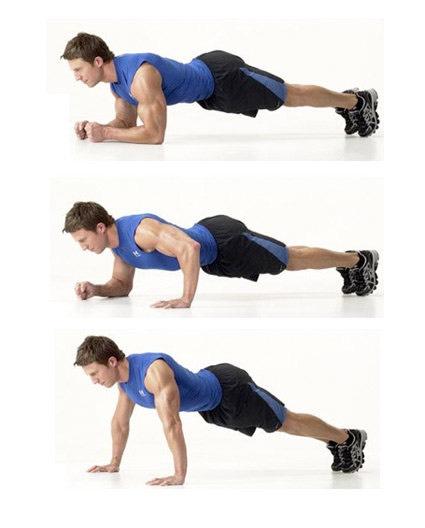30 plank walks