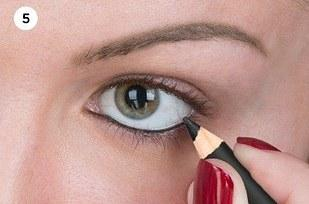 13. A quick way to set or intensify color on your waterline? Dark eyeshadow.