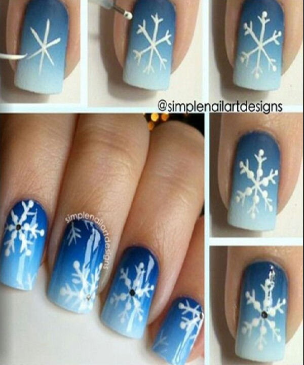 this easy winter styled nail art,  Great for this season in Australia   thumbs up if you like it  :)