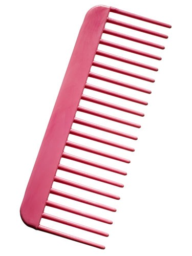 Use a wide-tooth comb when your hair is wet When your hair is wet, it is very delicate and fragile. Using a wide-toothed comb will take the tangles out without breaking your hair. You can get a wide-toothed comb at Walmart or the dollar store for very cheap.