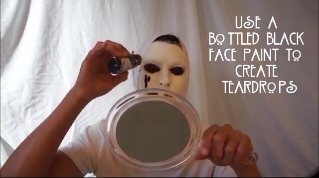 Drip the face paint on your face to make it look realistic.