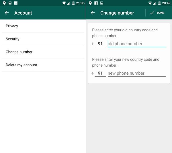 You can tie the app to your number.Never lose your contacts ever again. Even if you buy a new phone, you can choose to tie the application to your new phone number. By choosing not to do that, you can continue using WhatsApp with ur new some and old contacts, provided u had backed them up of course.