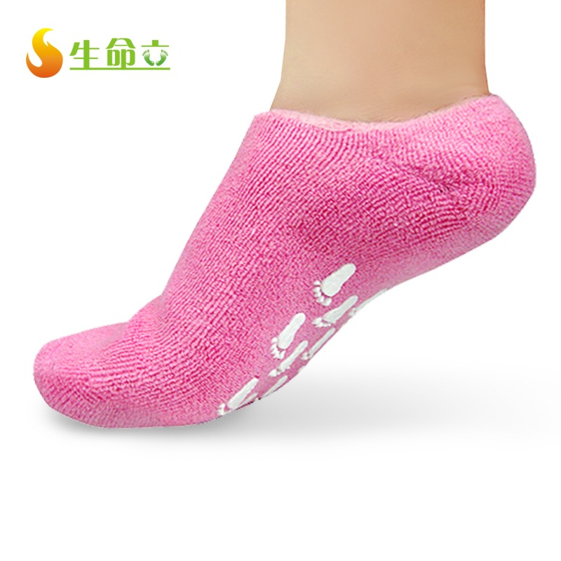 If you did this before bed, put on thick, soft socks to help soften your feet.