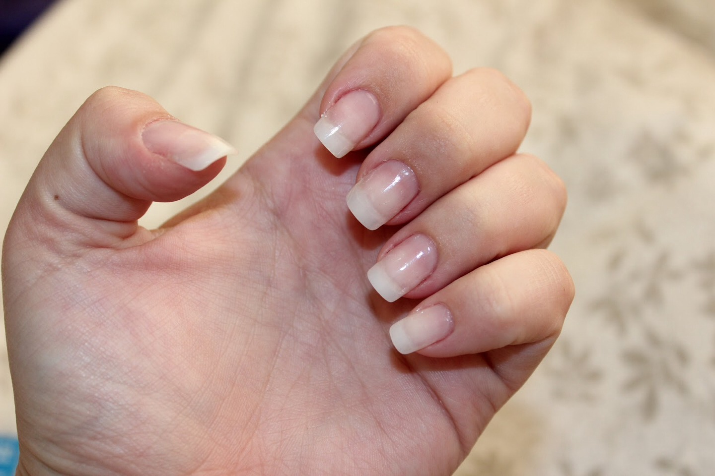 Start with a clear coat on nails