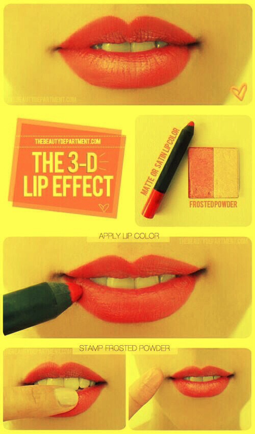 How to get the 3D effect lip. This is stunning!!! 💋💄