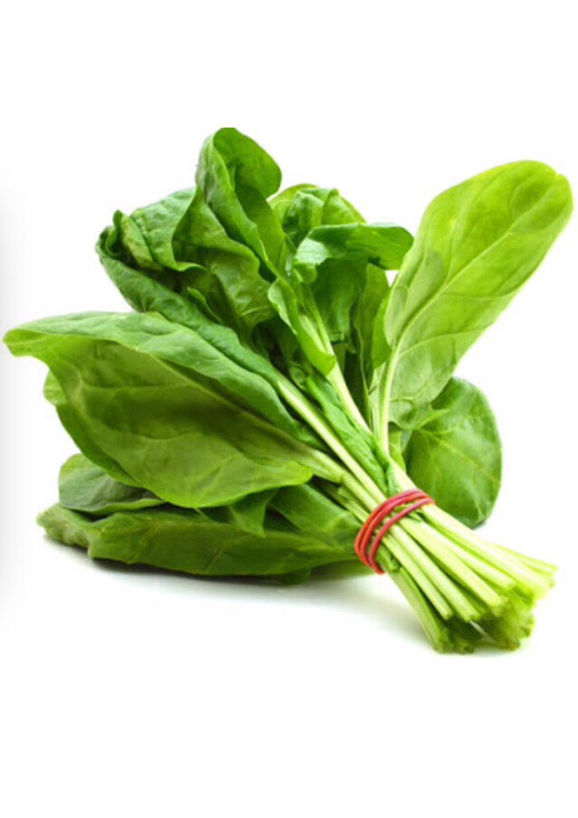 Spinach contains iron, folate, chlorophyll, vitamin E, magnesium, vitamin A, fibre, plant protein and vitamin C. It has antioxidants that fight against all types of skin problems. By eating spinach, you're cleaning your skin from the inside out!