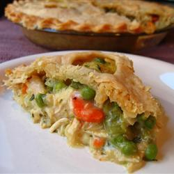 """This pie tastes yummy, and will feed up to eight hungry people."""""""