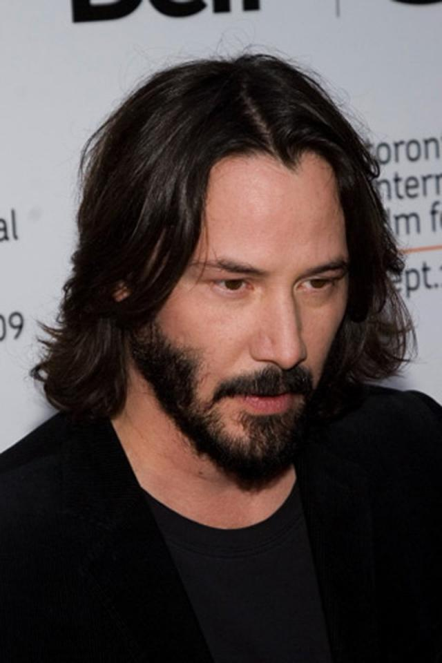 This is the hairstyle that for any guy with long hair will almost seem a bit goth. This a great hairstyle that requires absolutely no maintaining but to make sure that it it clean. Keanu Reeves pulls this off effortlessly.
