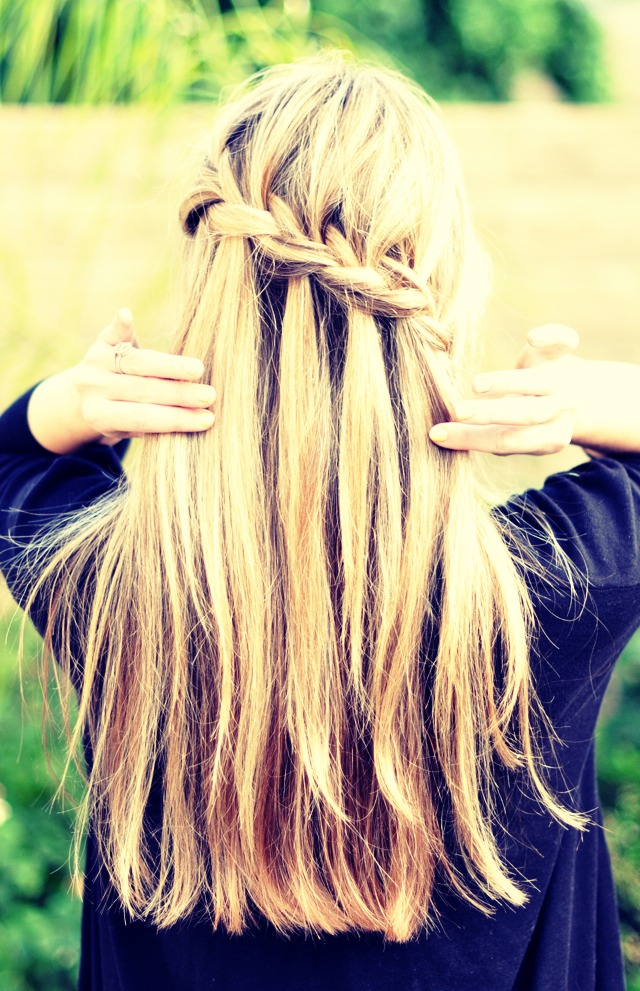 Braid your hair every night before you go to bed