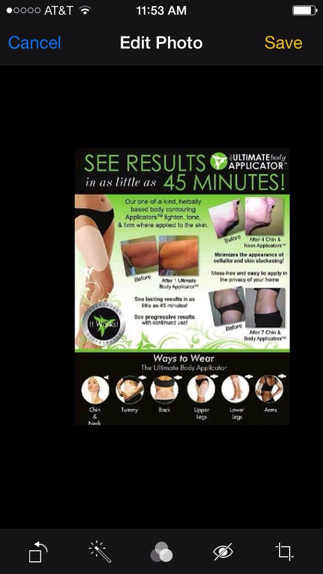 It can be used on any part of your body including your arms, thighs, back, neck, stomach etc.... The wrap helps tighten, tone, firm the body while minimizing the appearance of cellulite!