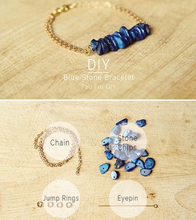 4. Blue stone bracelet