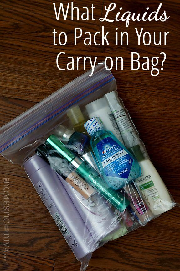 for your carry on bag you should put your eyeliner mouthwash mascara liquid foundation and anything else in a ziplock