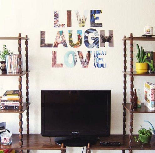 Cut out letters from it to make wordings for your room.