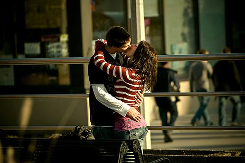 OLD MOVE: Wait until you're alone to kiss.