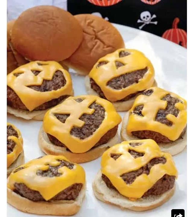 Best Halloween cheese burgers