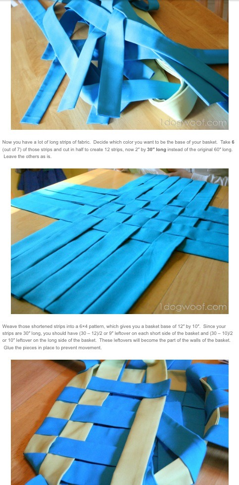 Read the detailed tutorial here - http://www.1dogwoof.com/2012/07/no-sew-summer-basket-tutorial.html