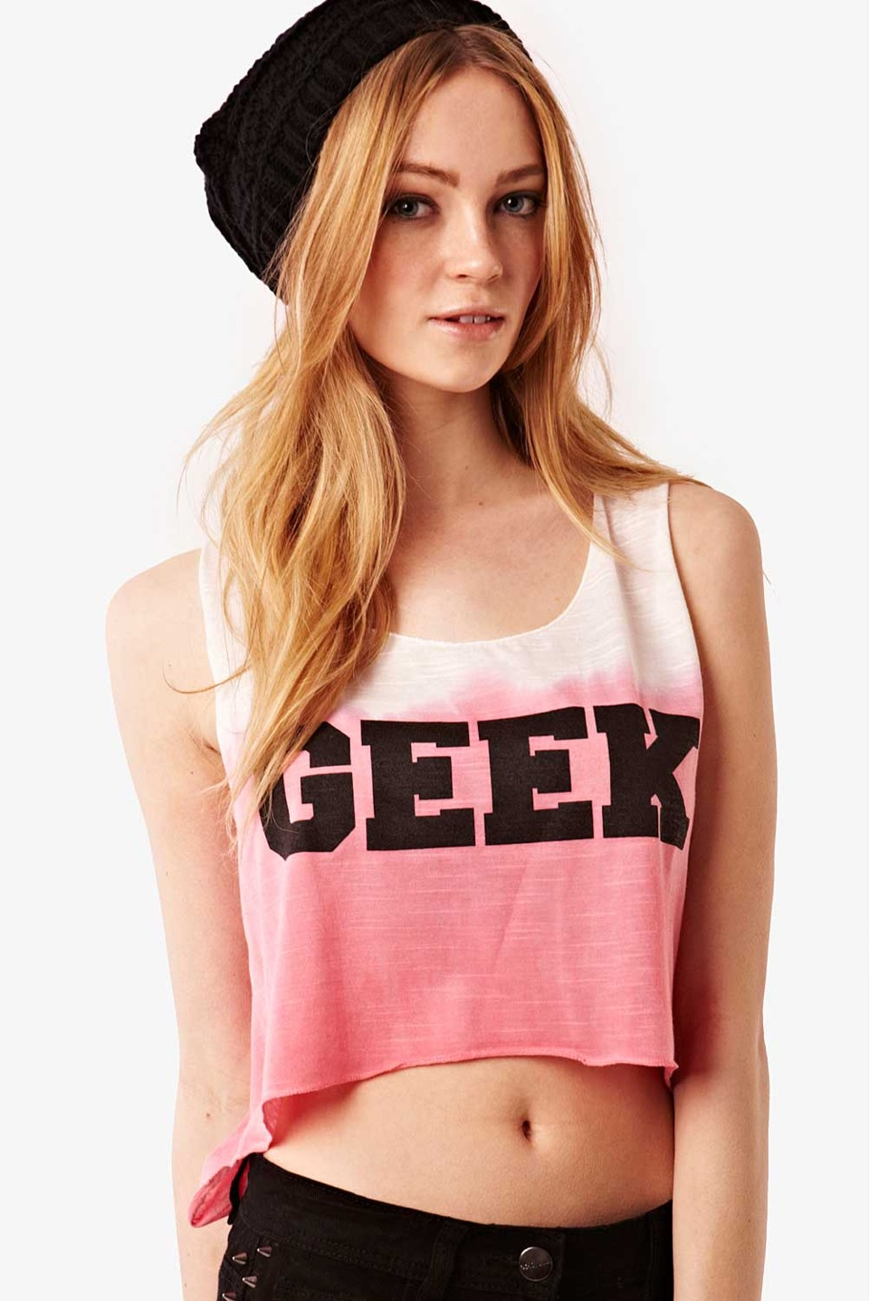 Crop tops are a must have in the summer because it shows ur body you have worked on abd also that beautiful tan u have BTW geek is out