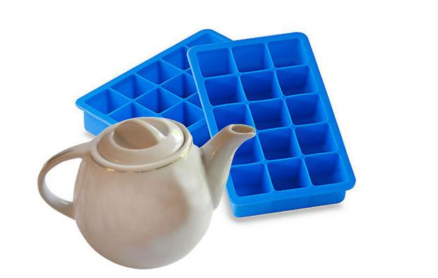 Use a teapot to fill ice trays to avoid spills.