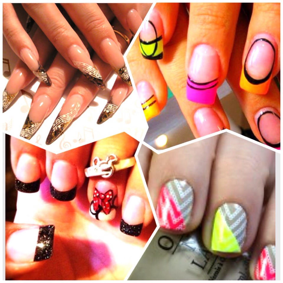 4 top designs that i think are beautiful! These are summer/spring 2014, hope you like!💅 (acrylic nails btw)!🙊