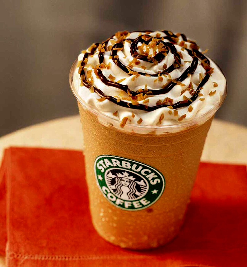 Ingredients:  2 shots expresso/ 3/4 cup strong coffee 1/2 cup milk of your choice  2 tablespoons sugar/sweetener  As much ice as you like and BLEND!(:  Add whip cream and any syrup if you'd like.