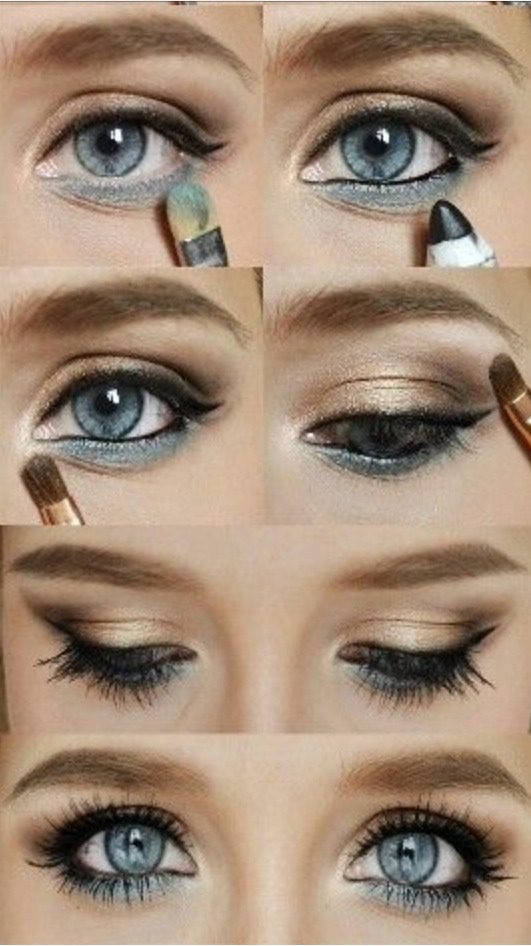 Eyeshadow Tut: Makeup Tut. Cosmetics. Eye Shadow. Eye Liner. By Greisy
