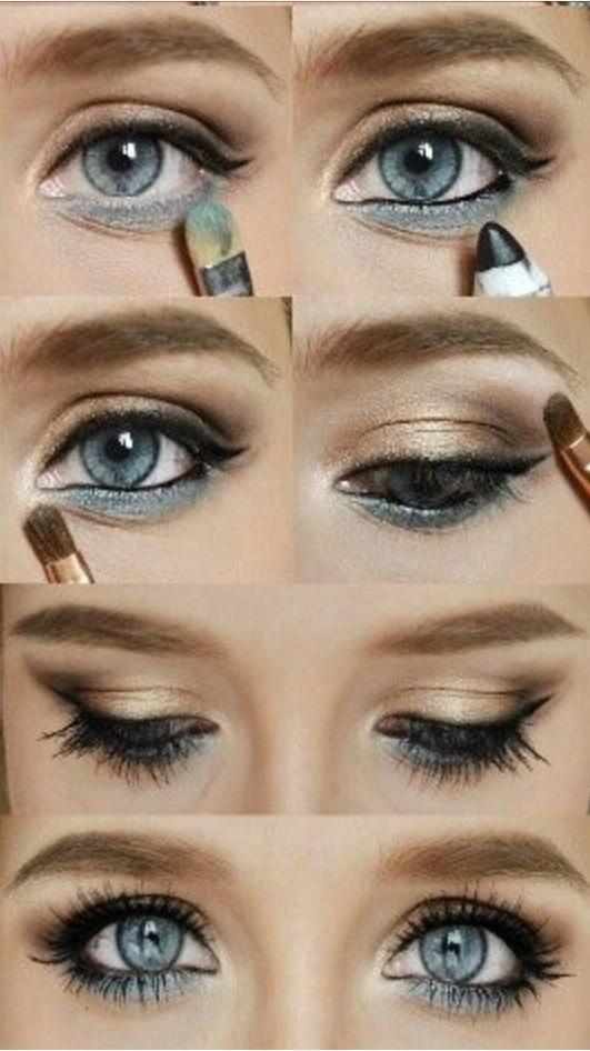 Makeup Tut. Cosmetics. Eye Shadow. Eye Liner. By Greisy