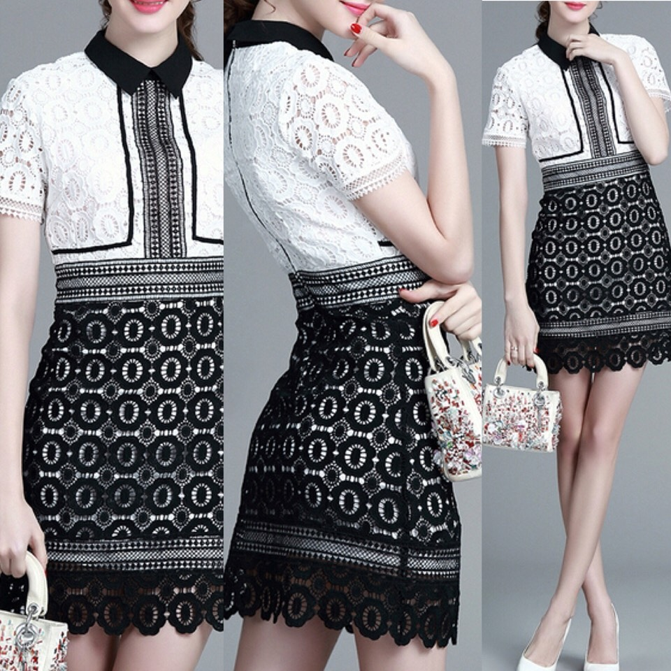 $51.99 http://m.romwe.com/White-Lapel-Crochet-Hollow-Out-Dress-p-151297-cat-664.html