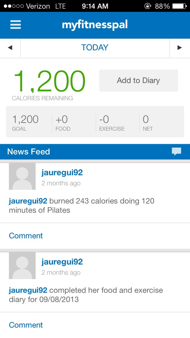Let's you know how many calories you should I take after setting a goal weight for yourself.