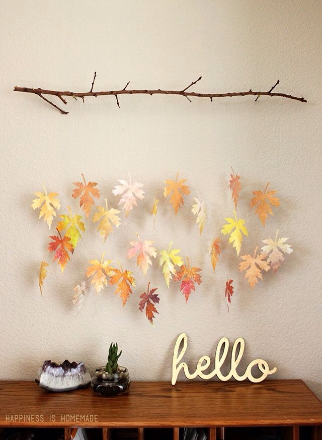 DIY Leaf Branch Mobile.