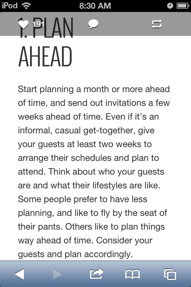 1. Plan Ahead.