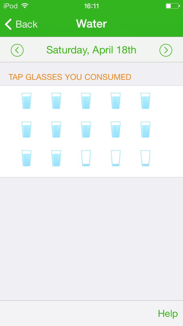 You can track how much water you drank