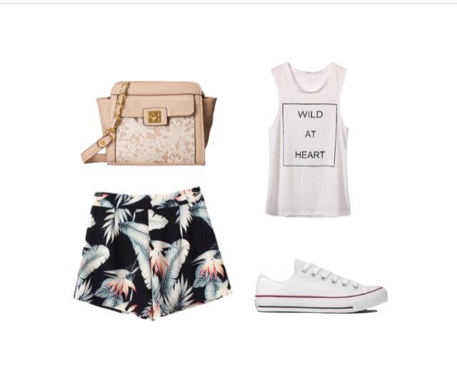 Shirt - yoins.com  Shorts - lookbookstore.co  Shoes - shopakira.com  Bag - zappos.com