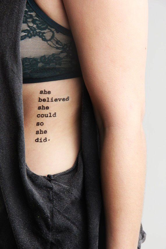 9 Quote Tattoo Ideas For Women By Adreanna Patitucci Musely