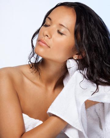 3. Towel-dry your hair before applying conditioner
