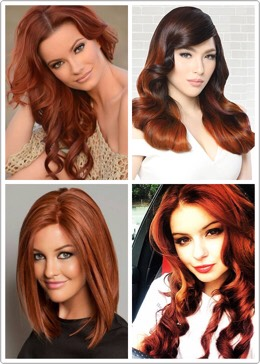 Hints of red and orange hues! Ginger hair color has it all!!