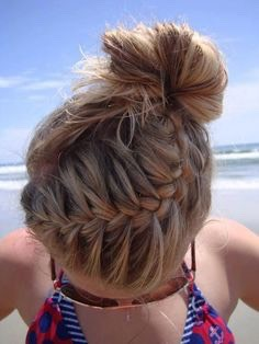 This is such a cute hairstyle for summer or sports. 😍