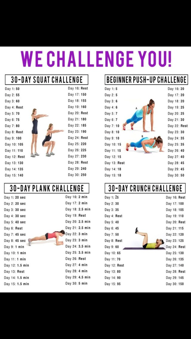 Hint I'm going to try to do these four challenges and hopefully increase my stamina with biking and jump rope :)