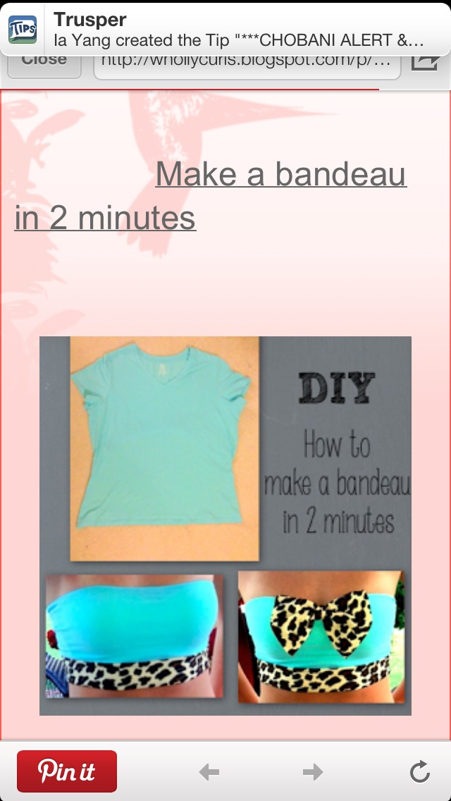 How To Make A Bandeau In Two Minutes By Demple Fairley Musely