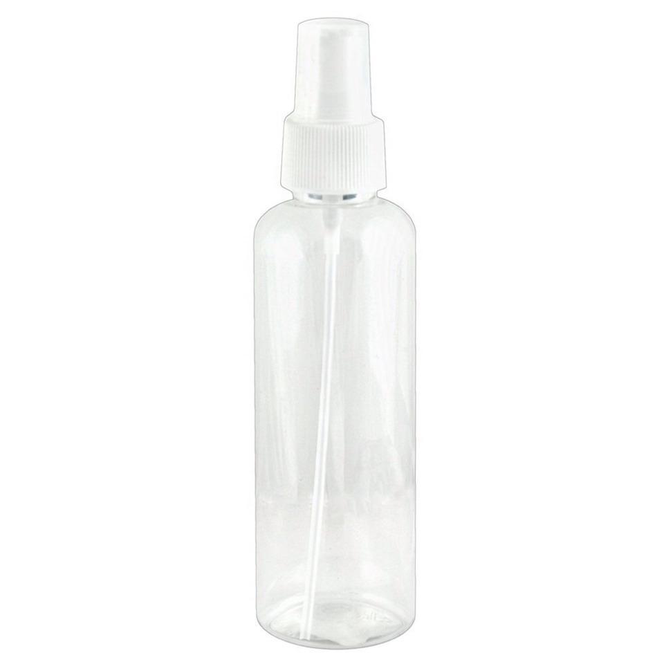 Add water to an empty spray bottle.