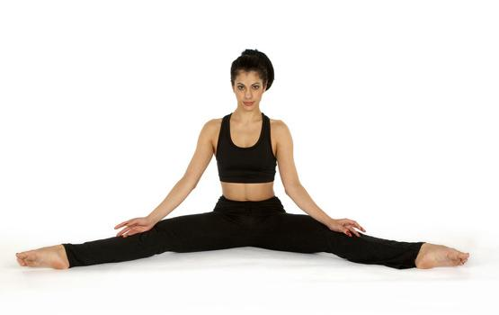 First sit in the straddle position and extend your legs as far as they can go. Gradually throughout this process your straddle will get better as well.