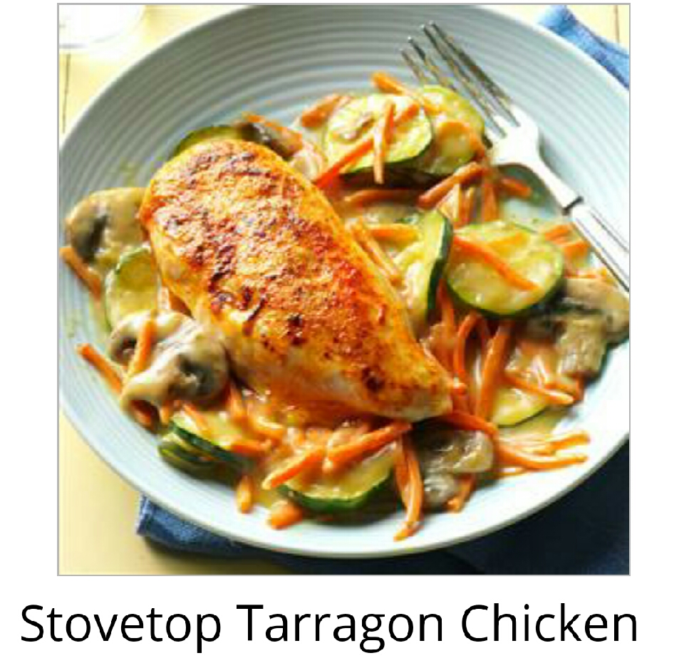 Follow this recipe for stovetop Tarragon chicke!