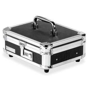 Invest in a cash box like the one above( I got mine at Walmart) and when you leave the house put it in the refrigerator or inside the dish washer....inside you can place money the robbers don't have time to look in those places.!