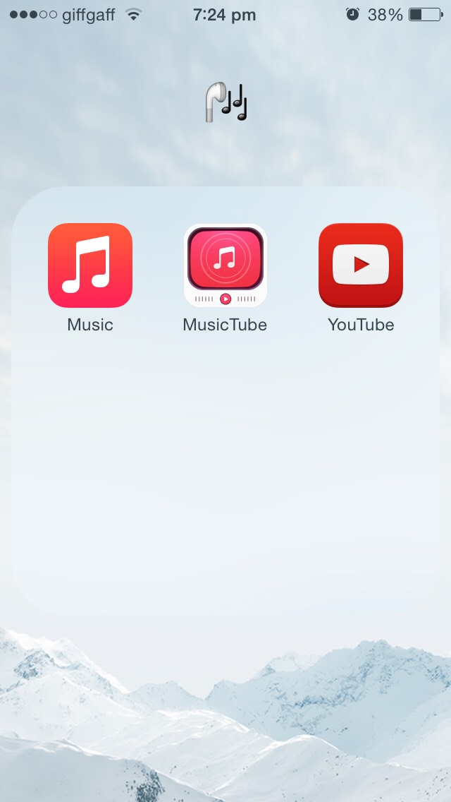 this of course is my music folder, and I rarely ever use my music, or YouTube but I use 'music tube' every single day, in the morning and night😂🙋I love my music😏it changes every week😏