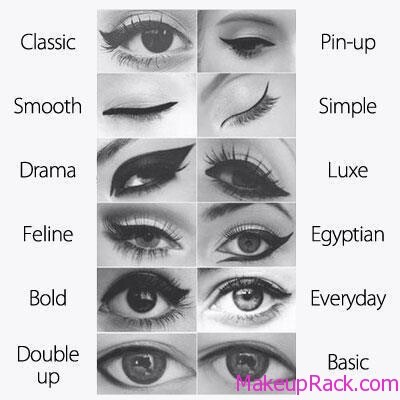 Some types of eyeliner