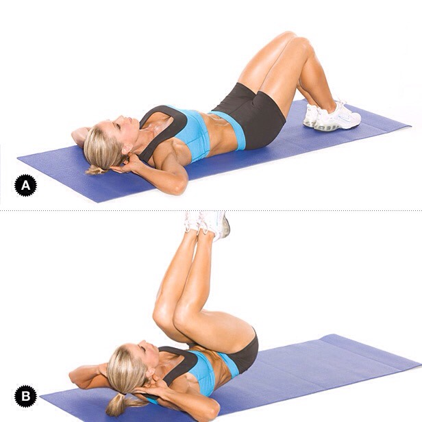 Reverse crunches(gets lower abs!)