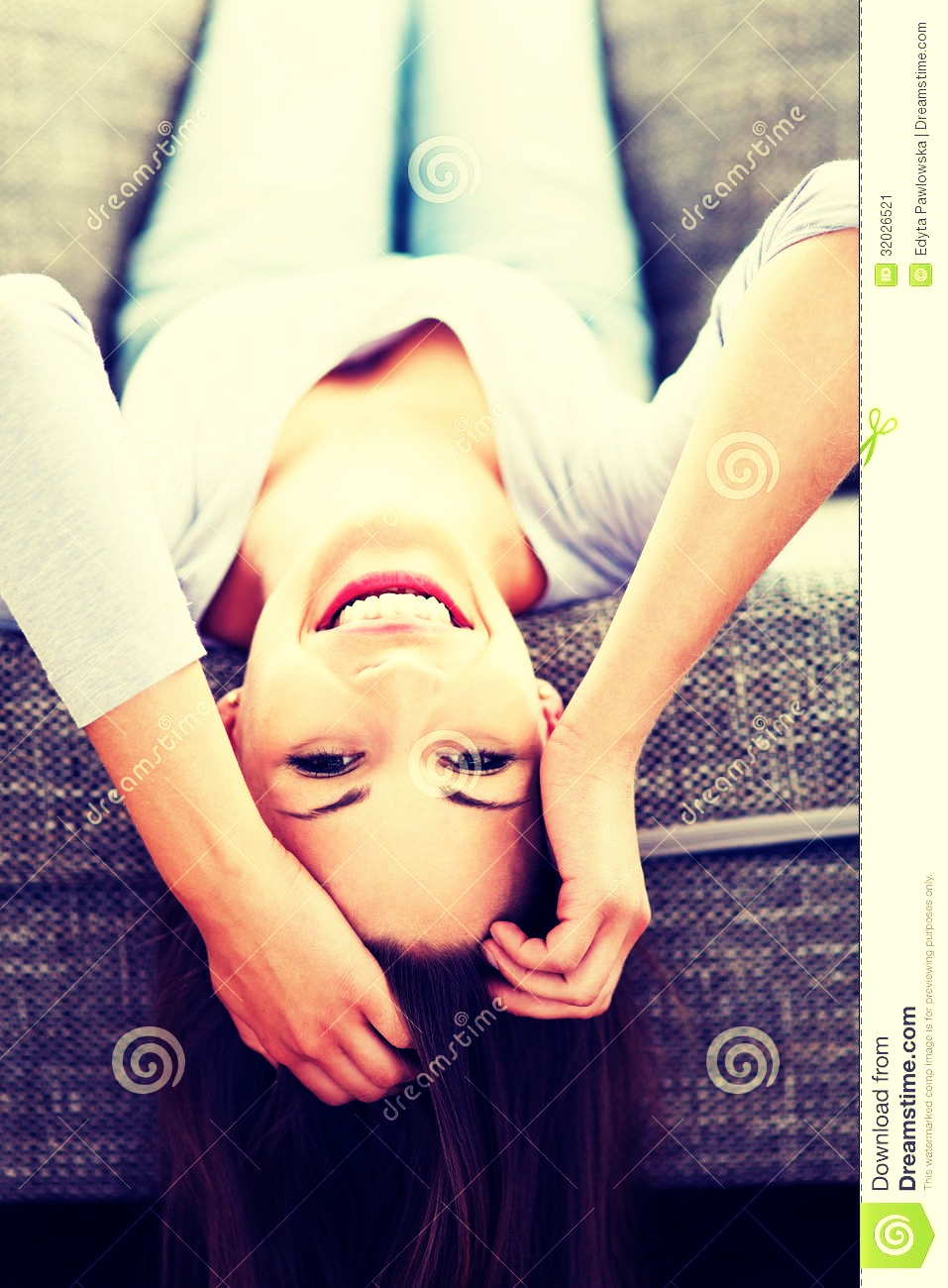 Lie upside down so that your hair is dangling down. (I recommend you do this on your bed) Lie like this for 4 minutes and then slowly rise back up. This will set the ointment in your hair and will also help with growth of your hair.